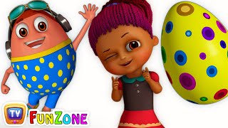 Surprise Eggs Gumball Machine Ball Pit Show for Kids | Learn YELLOW Colour | ChuChuTV Funzone 3D