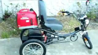 Hybrid Electric Trike 130 Miles Per Gallon ! Bicycle! Tricycle! Gas Bike