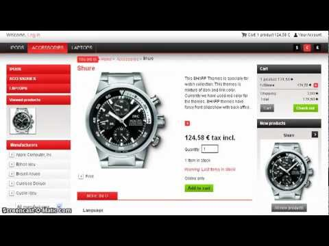 Watch and Jewelery Themes for prestashop