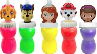 Learn with Paw Patrol Doc McStuffins Sofia the First Slime Surprise | Fizzy Fun Toys
