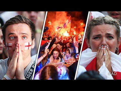 Xxx Mp4 ENGLAND KNOCKED OUT OF WORLD CUP Reactions And Goal Celebrations From Croatia 2 1 England 3gp Sex