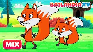 Idą Lisy Dwa - Piosenki dla dzieci Bajlandia.tv - ZESTAW piosenek