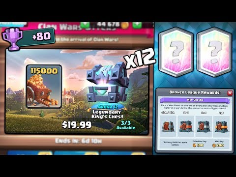 Xxx Mp4 OPENING X12 NEW CLAN WAR CHEST OFFERS NEW WAR DAY Clash Royale WAR COLLECTON CHEST OPENING 3gp Sex