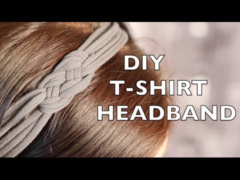 How To Make A Headband Using An Old T Shirt