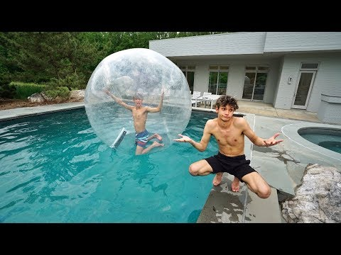 I TRAPPED MY TWIN BROTHER INSIDE A GIANT BUBBLE BALL