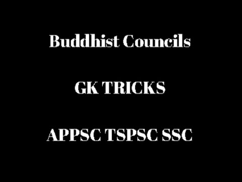 Buddhist Councils - Buddhism || GK Tricks for APPSC TSPSC SSC || Ancient History