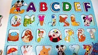 Fun Learning  ABC Puzzle with Disney Mickey Mouse