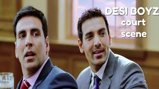 Desi Boyz Comedy Court Scene | Akshay Kumar | John Abraham | Sanjay Dutt | Omi Vaidya | Anupam Kher