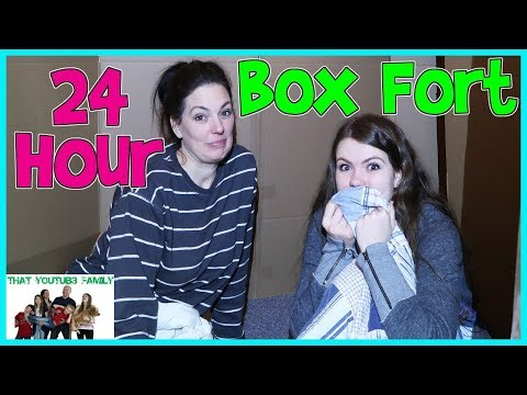 24 Hours Overnight In Huge Box Fort Maze Fan Favorite That YouTub3 Family The Adventurers