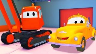 Xe Cần Cẩu Phá Công Trình Và Tom - Chiếc xe tải kéo | Phim hoạt hình