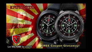 Samsung Gear S3/Gear Sport Kamikaze Watch Face by Victory Watchfaces - FREE Coupon Giveaway!