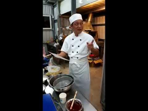 邱獻勝老師的綠豆椪製作 炸豬油 1