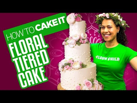 Delicious Spring Floral Tiered Cake for Mother s Day How To Cake It Yolanda Gampp