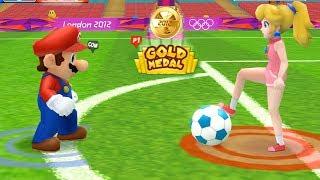 Mario & Sonic Olympic Games - Gold Medal Challenge Team Peach vs Team Mario | Cartoons Mee