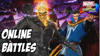Marvel vs Capcom infinite Ghost rider and Doctor Strange gameplay online matches