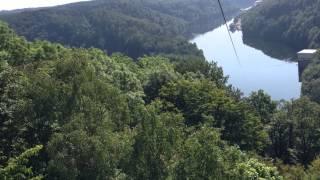 Zip-lining Rappbode Talsperre Harz Germany