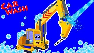 Drill Truck Car Wash | Car Wash Cartoons For Children | Videos For Toddlers by Kids Channel