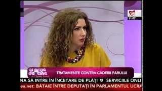 Dr Oana Spanu:  Despre caderea parului, cauze si tratament la Ai grija de tine cu Carmen Bruma