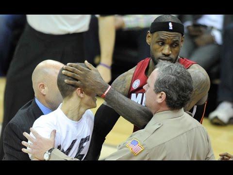 NBA Fans Run On Court Compliation