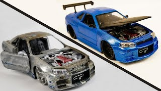 Repair Abandoned Toy Car #2 | Nissan Skyline GTR R34