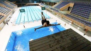 نطيت من فوق 20 متر بأكبر مسبح بالسعودية !! فلوق#52