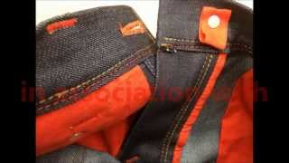 Making of blue-jeans RAW - designer jeans men's style