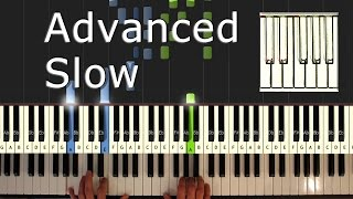 Beethoven - Moonlight Sonata  - Piano Tutorial Easy SLOW - How To Play (synthesia)