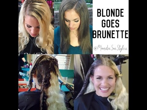 Blonde Goes Brunette How to FILL Redken ColorGels & Olaplex Treatment