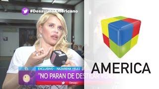 Nazarena Vélez, en llamas: