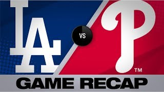 Harper's walk-off caps wild Phillies win   Dodgers-Phillies Game Highlights 7/16/19