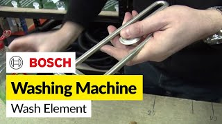 How to replace a washing machine element (front mounted) in Bosch washer