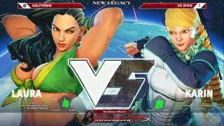SFV: New Legacy @ Next Level - Wolfkrone (Laura) vs OG Shine (Karin) - FT5 Exhibition