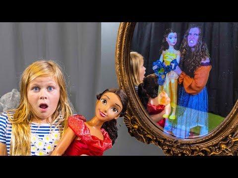 Xxx Mp4 ASSISTANT Spooky Magic Mirror With Elena Of Avalor Belle Disney Princesses Spooky Toys Video 3gp Sex