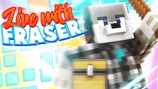 🔴 FRIDAY LIVE STREAM   Minecraft Hypixel Skywars, Bed Wars, KING OF THE HILL & MORE!   w/ YOU!
