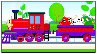 Train Cartoon - Birds & Fruits - New Animation for Kids
