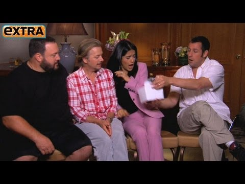 'Extra' Surprises Salma Hayek and Cast of 'Grown Ups 2'