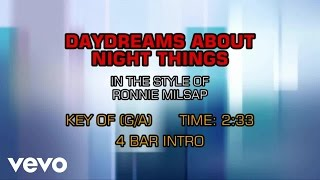 Ronnie Milsap - Daydreams About Night Things (Karaoke)