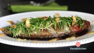 Steamed fish with ginger and green onion - InstantPot Recipe (Cá hấp hành gừng)