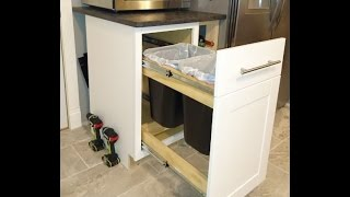How to convert any kitchen cabinet into pull out wastebasket