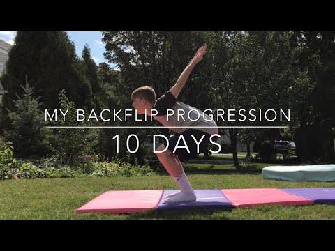 MY BACKFLIP PROGRESSION 10 DAYS