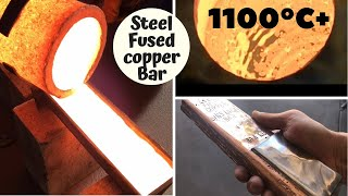 Huge Copper Bar Casting From Scrap Pipes - Pouring Copper - Trash To Treasure