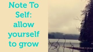 NOTES TO SELF 01: allow yourself to grow