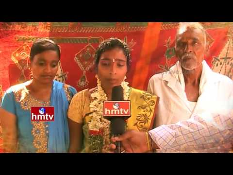 చెట్టు కింద పెళ్లి   Sad Story Behind Poor Girl Wedding Under Tree   Peddapalli Dist   HMTV