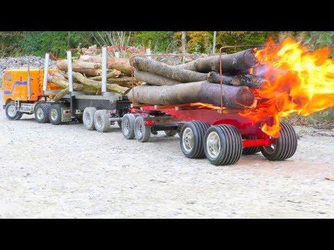 Xxx Mp4 RC Fire Trucks Big Fire On The Wooden Trailer Fantastic RC Vehicles 3gp Sex