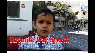 Republic Day  Speech By Sanchit Third Standard