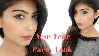 New Year party Makeup Tutorial 2017 | Affordable | Rinkalsoni