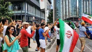 2018 FIFA World Cup | Iranian Fans Celebrate win over Morocco (جشن پیروزی بعد از بازی ایران-مراکش)