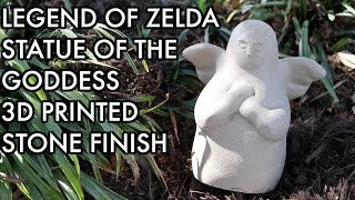 Zelda: Breath of the Wild: 3D Printed Goddess Statue IN STONE!
