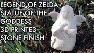 Zelda: Breath of the Wild: 3D Printed Goddess Statue IN STONE!