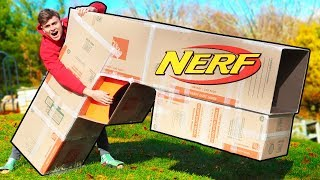 WORLDS BIGGEST CARDBOARD NERF GUN!!